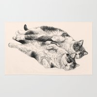 cats Area & Throw Rugs featuring Cats by Anna Shell