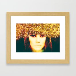 Cross my Palm with Silver Framed Art Print