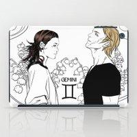 gemini iPad Cases featuring Gemini by Cassandra Jean