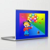 clown Laptop & iPad Skins featuring Clown by Art-Motiva