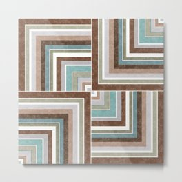 3 marble combination patchwork Metal Print