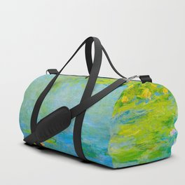 Claude Monet Impressionist Landscape Oil Painting Water Lilies Duffle Bag