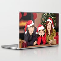 allison argent Laptop & iPad Skins featuring Merry Christmas - Argent Family by Finduilas