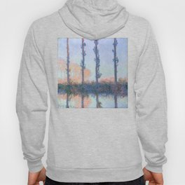 The Four Trees by Claude Monet Hoody