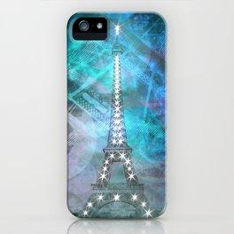 Illuminated Pop Art Eiffel Tower | Graphic Style iPhone Case