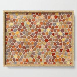 Fall Colors Mosaic Pattern - light Serving Tray
