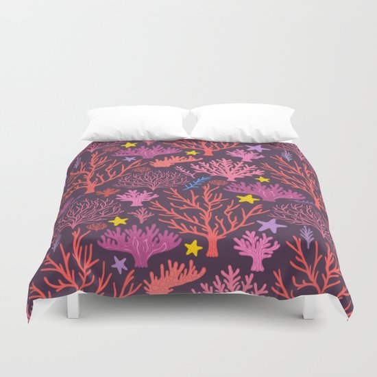coral pattern Duvet Cover