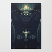bioshock Canvas Prints featuring Bioshock Infinite by Fabled Creative - Archive