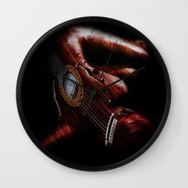 Guitar Woman Wall Clock