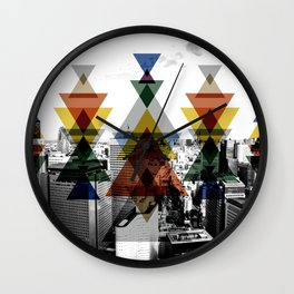 City totem Wall Clock