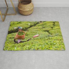 Tea Plantation - Photography Art Rug