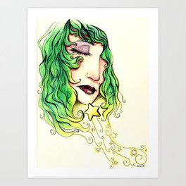 Dreaming Star Art Print