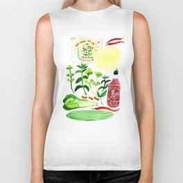 Vietnamese Rice Paper Rolls Recipe Watercolor Biker Tank