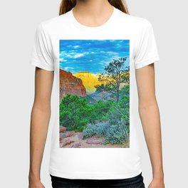 Zion National Park Sunrise Pines Print T-shirt