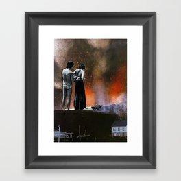 volcanic beach Framed Art Print