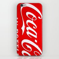 coca cola iPhone & iPod Skins featuring Coca-Cola by Kai Gee