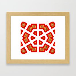 The Red Hexogon Framed Art Print
