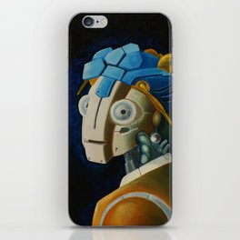Robot with a Pearl Earring iPhone Skin