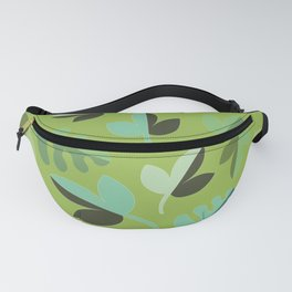 Shades of Green Leaves Fanny Pack