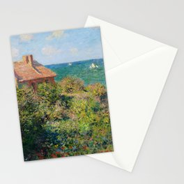 Claude Monet - Fisherman's Cottage on the Cliffs at Varengeville Stationery Cards