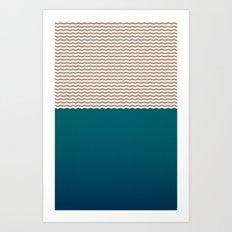 Empty Ocean Art Print