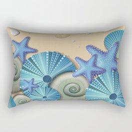 SEA SHELLS ON THE BEACH Rectangular Pillow