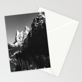 Swiss Alps Black and White Stationery Cards