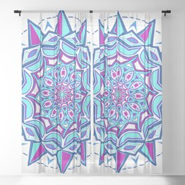 Love and Faith Mandala Sheer Curtain