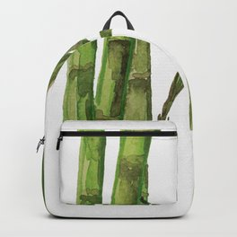 Bamboo Watercolor - Green Palette Art Print Backpack