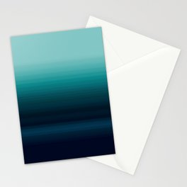 Teal to Indigo Ombre Design Stationery Cards