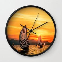 Sun wind Wall Clock