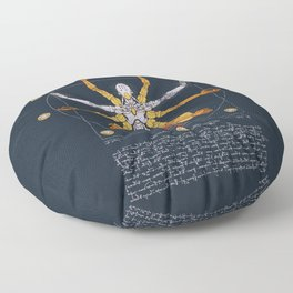 Vitruvian Omnic - color version Floor Pillow