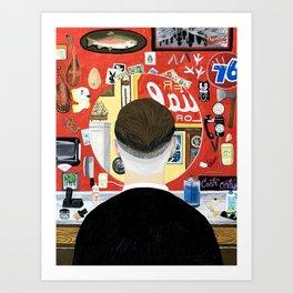 BARBER SIDE Art Print