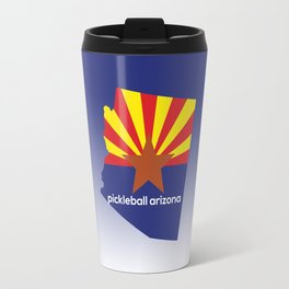 Pickleball Arizona State Flag Travel Mug