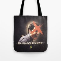 dale cooper Tote Bags featuring Black Mirror | Dale Cooper Collage by Julien Ulvoas