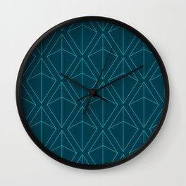 BLUE GEOMETRIC DIAMONDS Wall Clock