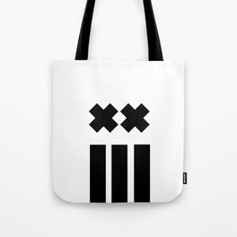 Ex and Stripes Tote Bag
