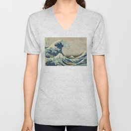Great Wave of Kanagawa Unisex V-Neck
