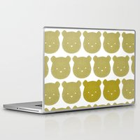 teddy bear Laptop & iPad Skins featuring Teddy by ColourMoiChic