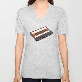 Cassette Tape Polygon Art Unisex V-Neck