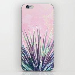 Vintage Yucca Palm - Pink iPhone Skin