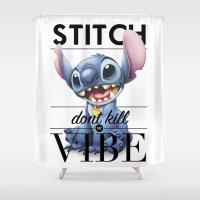 kendrick lamar Shower Curtains featuring Stitch Don't Kill My Vibe by Woah Jonny