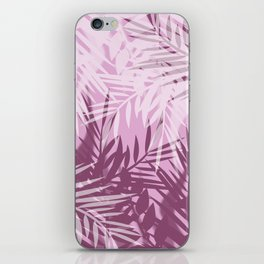 Pink tropical background iPhone Skin