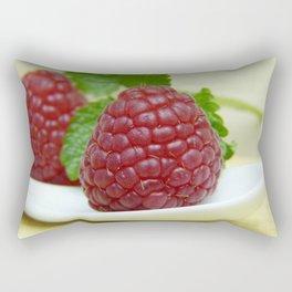Raspberry Close Up - Cafe or Kitchen Decor Rectangular Pillow