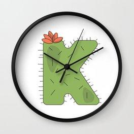 Cactus K Wall Clock