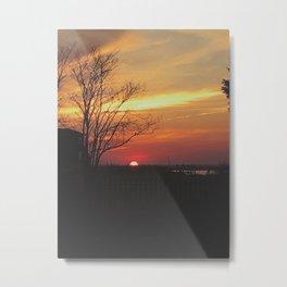 Sinking Sun in Brigantine Metal Print