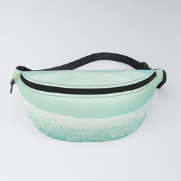 Winter Aqua Sparkling Seashore Fanny Pack