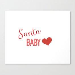 Santa Baby Canvas Print