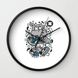 RHINO FOOTBALL Wall Clock