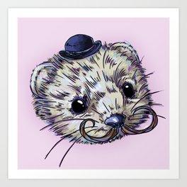 Gentleman Mink Art Print